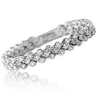 MSF brand SSL189 incredible shiny new arrivals romantic Austria Crystal 23k platinum plated bracelets jewelry