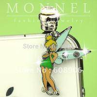 IP271a Best Sale Tinkerbell Fairy Anti Dust Earphone Jack plug for iPhone4/4s Smart Phone