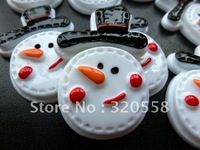 "New arrival cookies snowman 30 pcs 1.2""  so cute FlatBack Resins Scrapbooking Embellishment"