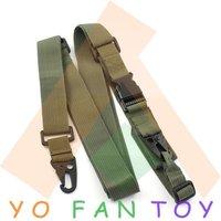 Free Shipping Tactical Elastic 3 Point Nylon Bungee Snap Hook Gun Sling - Black / Army Green Hunting Belt Combat Belt