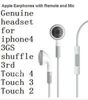 Original Headset  Earbud Volum Control w/Mic for Apple iPhone 3GS 4 4S 5 iPad2 ipad 2 3 3rd iPod Nano 6th Touch 4th Generation