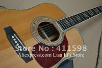 Deluxe D/45 acoustic Dreadnought guitar natural Solid spruce/ ebony fingerboard /Bridge True Abalone Binding Body