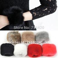 Free Shipping Rabbit Fur Women's Colorful Wristband Cuff Sleeve