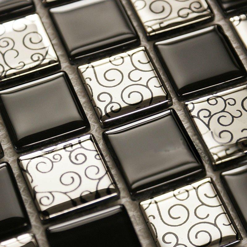 tile backsplash cheap bfmg03 metallic mosaic tiles mirror in mosaics