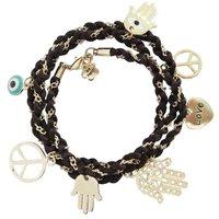 Wholesale 30Pcs/lot 61+1cm 3Rope  Evil Eye Bead Hamsa Hand of God Fatima Charm Handmadke Bracelet Lovers hand catenary