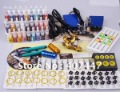 2012 Complete Professional Tattoo Kit Set 2 Machine Gun System Set 28 Ink Power supply needles set equipment