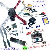 F02502-A RC MultiCopter QuadCopter UFO RTF/ARF:KK V2.3 Circuit board+1000KV Motor+30A ESC+Lipo+F450 Flamewheel+6ch TX&RX Freeshi