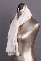 free shipping  fashion white mink fur shawl,Tassel fur scarf ,180cm*15cm  top quality