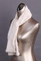 free shipping  fashion white mink fur shawl,Tassel fur scarf ,180cm*15cm  top quality