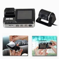 HD 720P Dual Lens Dashboard Car DVR Camera vehicle Camera Video Recorder DVR Carcam G-sensor with Remote Control