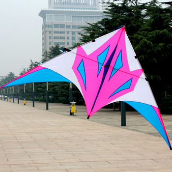Weifang kite - habergeons fox delta kite umbrella fabric resin rod