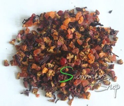Mixed fruit tea 500g flower tea, natural flavor tea, free shipping(China (Mainland))