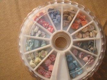 5wheels*60pcs 3D Rose Flower Ceramic Jewelry Nail Accessories + Wheel 12colors Ornament For Fashion  Beauty Desgin 300pcs 5MM