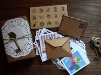 Fancy gift card set 60pcs envelopes + 60pcs mini card