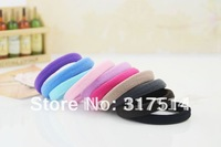 100pcs Mix  Colorful elastic hair ties bands/Elastic Hair Loop Ponytail Holder Hair Accessories