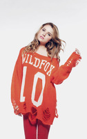 Wildfox fashion star autumn hole thin fashion loose sweater