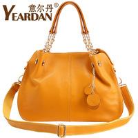 2012 genuine leather women's handbag female one shoulder cross-body first layer of cowhide women's bag