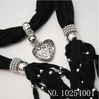 wholesale 14 colors Solid Scarf Pendant Scarves Candy Design Scarf Jewelry Beads Decoration Mix 15 Pieces.Free Shipping!