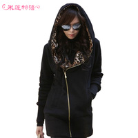 2013 plus size autumn and winter plus size clothing sweatshirt outerwear thickening fleece sweatshirt mm outerwear