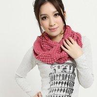 Womens Winter Knitted Crochet Long Snood Tube Scarf Shawl Neck Warmer Pashmina