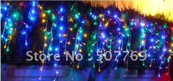 5M 200LEDs lights flashing lane LED String Icicle lamps curtain Christmas home garden festival colorful 110v-220v EU UK US AU