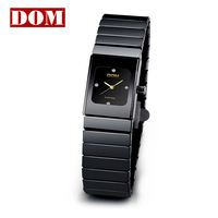 Dom lady waterproof classic ceramic watch female commercial women's table watch 550-1m