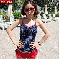 ALI 70 XCQX New 2014 Women's Split Swimwear Swimsuit Female Split Push Up Bikini Set Three Sizes