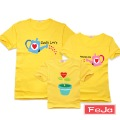Feja 2012 family fashion summer family set short-sleeve T-shirt clothes for mother and daughter seeds