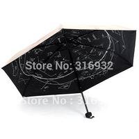 12 constellation folding automatic umbrella, Prevent UV sun three folding umbrella