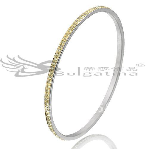 CH4821 Factory Price Smooth Bangles, Top Quality Stainless Steel Jewelry, Lovely Women's Bangles Free Shipping(China (Mainland))