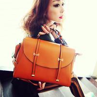 Fashion vintage Bag, preppy style handbag , High fashion design dual-used bag , brief-case