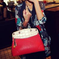 2013 fashion crocodile pattern small lock bag shoulder bag handbag