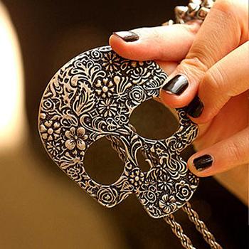 Sunshine jewelry store vintage gothic skull necklace  X193 ( $10 free shipping )