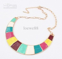 Exaggeration alloy jewelry rainbow necklace women fashion neck chain party deserve to act the role o
