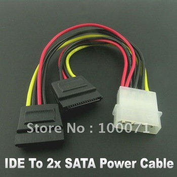 4Pin IDE to 2x Serial ATA SATA HDD Power Adapter Cable 5Pcs  [314|01|05]