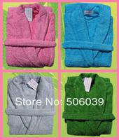 free shipping 100% cotton lovers male Women towel bathrobe towel bathrobe robe sleepwear loop pile thickening
