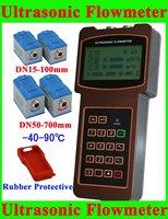 TUF-2000H-TM-1+TS-2 Ultrasonic Flow Meter Flowmeter DN15-700mm; -40-90 degree