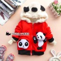 2012 autumn male child panda head hat style three-dimensional cartoon big sweatshirt outerwear baby outerwear