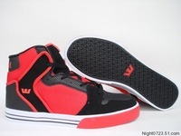 Sp2012 fashion high shoes in high hiphop hip-hop shoes the tide skateboarding shoes black color