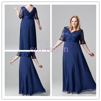 2012 chiffon  v neck floor length sexy mother of the bride dresses