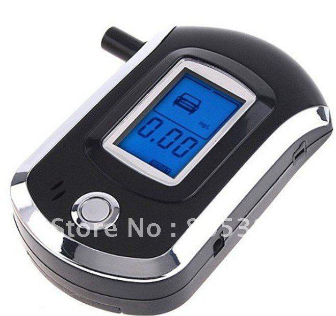 Free Shipping Portable Pocket Professional Alcohol Tester LCD Digital Breath Alcohol Tester Breathalyzer Black(China (Mainland))