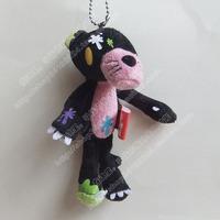 Pink panther mobile phone pendant black