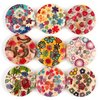 Wholesale -Free ship 340PCS Mixed 4 HOLE Wooden Buttons Colorful 20mm Fit Clothes Accessories Have in Stock 111553
