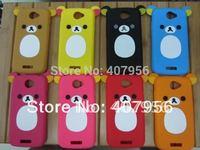 New Design Rilakkuma Lazy Bear Soft Back Case for HTC ONE S z520e z560e,With high quality,1pcs/lot
