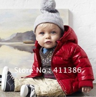 Wholesale 5 pcs/lot 2012 new style baby jacket fashion boy's garments children's warm winter coat (for 3-5 years) free shipping