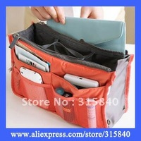 50pcs Women Insert Purse Cosmetic Storage Organizer Bag Handbag Makeup Tidy Travel -- BIB28 Free Shipping Wholesale & Retail