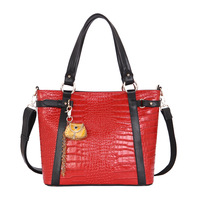 2012 fashion vintage crocodile pattern genuine leather bag messenger bag women's handbag 11942