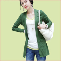 Autumn new arrival plus size mm medium-long slim long-sleeve outerwear sweater cardigan