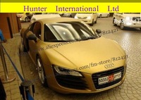 GOOD QUALITY !! Free shipping!! 1.52*30m matte golden Vinyl with air free