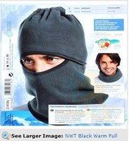NWT Black Warm Full Face Cover Winter Ski Mask Beanie Hat Scarf Hood CS Hiking S007